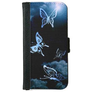 Venez à la vie Butterflys Coque Avec Portefeuille Pour iPhone 6