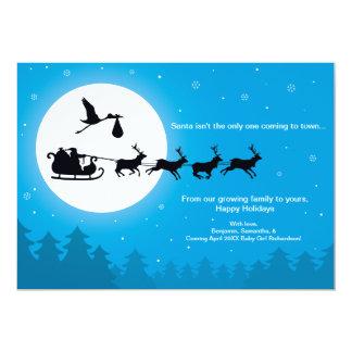 Venez au faire-part de grossesse de Noël de ville