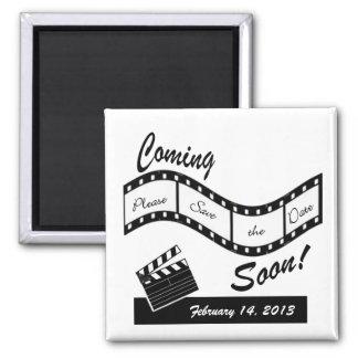 Venez bientôt - économies de bande de film la date magnets pour réfrigérateur