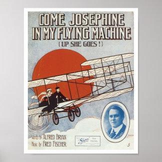 Venez Josephine dans mon cru Songbo de machine de  Posters