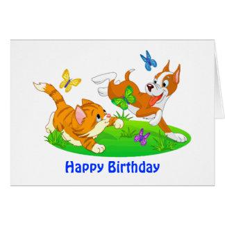 Venez les gambades avec moi anniversaire de chien carte de vœux