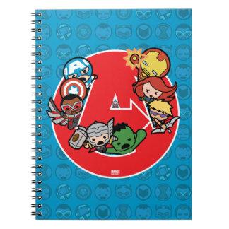 Vengeurs de Kawaii à l'intérieur d'Un-Logo Carnet