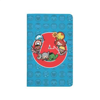 Vengeurs de Kawaii à l'intérieur d'Un-Logo Carnet De Poche