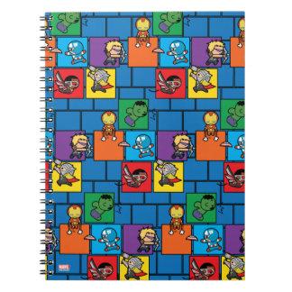 Vengeurs de Kawaii dans les blocs colorés Carnet