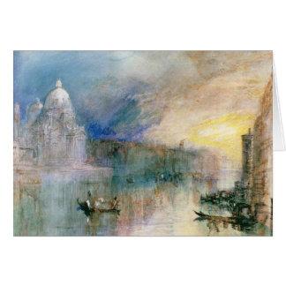 Venise : Canal grand avec le salut de della Santa  Carte De Vœux