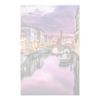 Venise, canal pittoresque de l'Italie et Papiers À Lettres