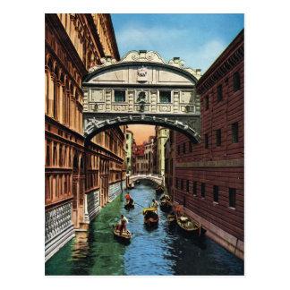 Venise, carte postale vintage 1910 de reproduction
