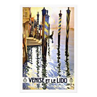 Venise et le Lido Venise Italie Papier À Lettre Customisable