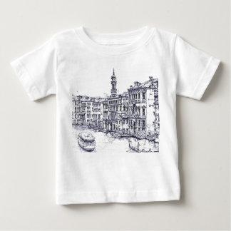 Venise, Italie, en encre T-shirt Pour Bébé