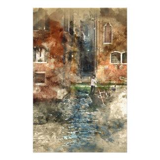 Venise Italie Motifs Pour Papier À Lettre