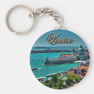 Venise, Italie - vue aérienne Porte-clé Rond