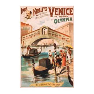 Venise, jeune mariée de la mer aux gondoles 2 d'Ol Toiles