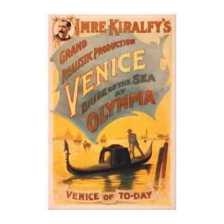 Venise, jeune mariée de la mer aux gondoles 3 d'Ol Toiles