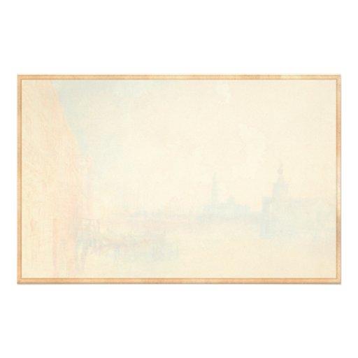 Venise la bouche du canal grand Joseph Mallord Papier À Lettre Personnalisé
