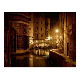 Venise la nuit - belle carte postale