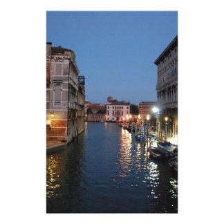 Venise la nuit papier à lettre customisable