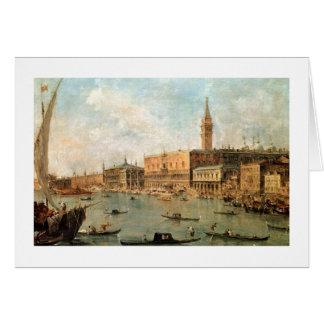 Venise : Le Palais des Doges et le Molo du Ba Carte De Vœux