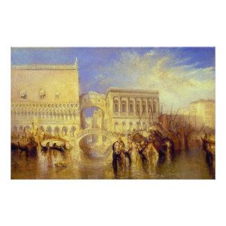 Venise, le pont des soupirs par J.M.W. Turner Papier À Lettre Personnalisé