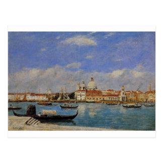 Venise, le salut et le Douane, le Guidecca Carte Postale