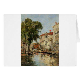 Venise par Eugene Boudin Carte De Vœux