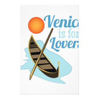 Venise pour des amants papier à lettre personnalisable