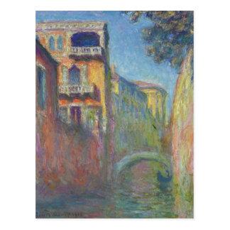 Venise, Rio de Père Noël Salute par Claude Monet Carte Postale
