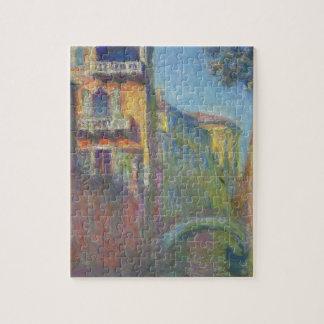 Venise, Rio de Père Noël Salute par Claude Monet Puzzle