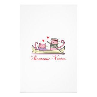Venise romantique motifs pour papier à lettre