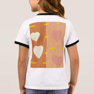 Vent de T-shirt de la sonnerie de la fille d'amour