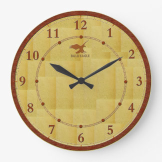 Vente décorée moderne en bois rouge d'horloge grande horloge ronde