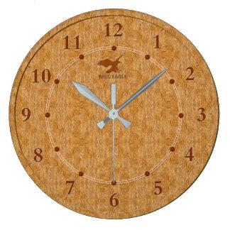 Vente moderne décorative en bois légère d'horloge grande horloge ronde
