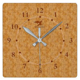 Vente moderne décorative en bois légère d'horloge horloge carrée
