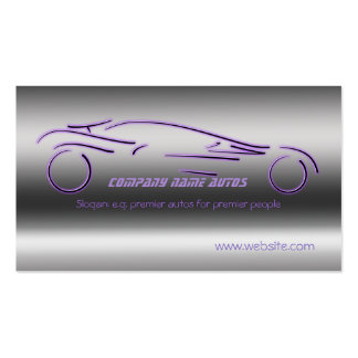 Ventes automatiques, Sportscar de luxe pourpre, ac Modèle De Carte De Visite