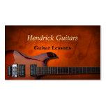 Ventes de guitare de leçons de guitare cartes de visite professionnelles