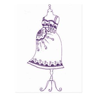 Ventre enceinte de henné carte postale