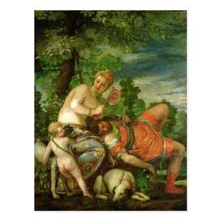 Vénus et Adonis, 1580 Carte Postale