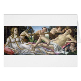 Vénus et Mars par Sandro Botticelli Cartes