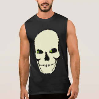 Verdes d'ojos de crâne de Camiseta Tee-shirt Sans Manches