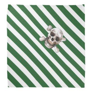 """Verdissez """"n le crâne et les os croisés de rayure bandana"""