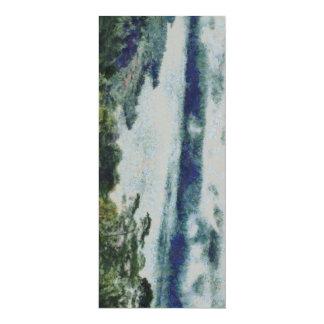 Verdure sur le rivage d'un lac carton d'invitation  10,16 cm x 23,49 cm