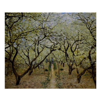 Verger en fleur par Claude Monet - copie de Posters