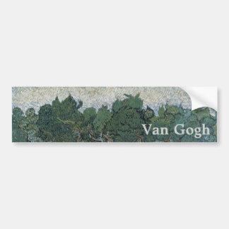 Verger olive par Vincent van Gogh Autocollant Pour Voiture