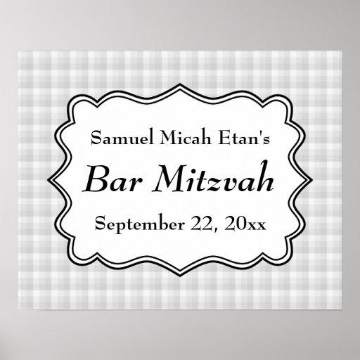 Vérifiez la barre Mitzvah de motif Posters