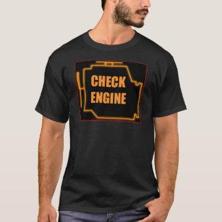 Vérifiez la lumière de moteur t-shirt