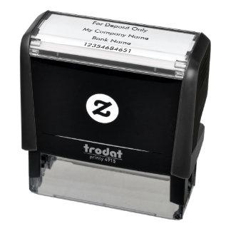 Vérifiez le timbre de dépôts en banque tampon auto-encreur