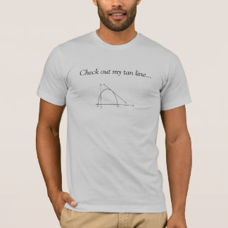 Vérifiez ma ligne bronzage… t-shirt