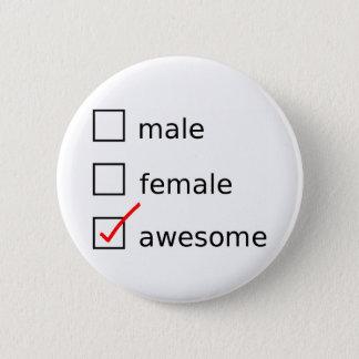 Vérifiez-moi se boutonnent badge