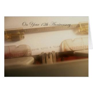 Véritable 12ème carte d'anniversaire de Love Story