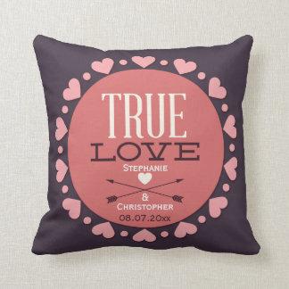 Véritable cadeau de mariage personnalisé d'amour oreillers