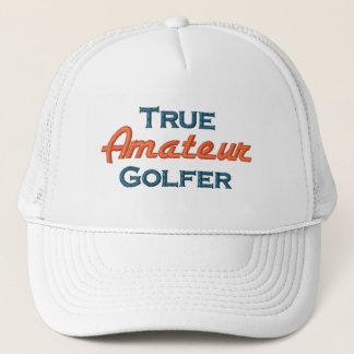 Véritable casquette amateur de maille de golfeur